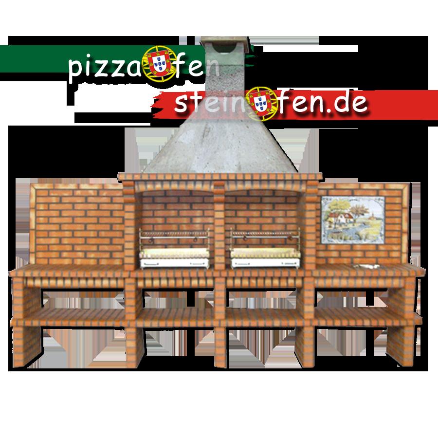 grillkamin mit zwei grills ab69. Black Bedroom Furniture Sets. Home Design Ideas