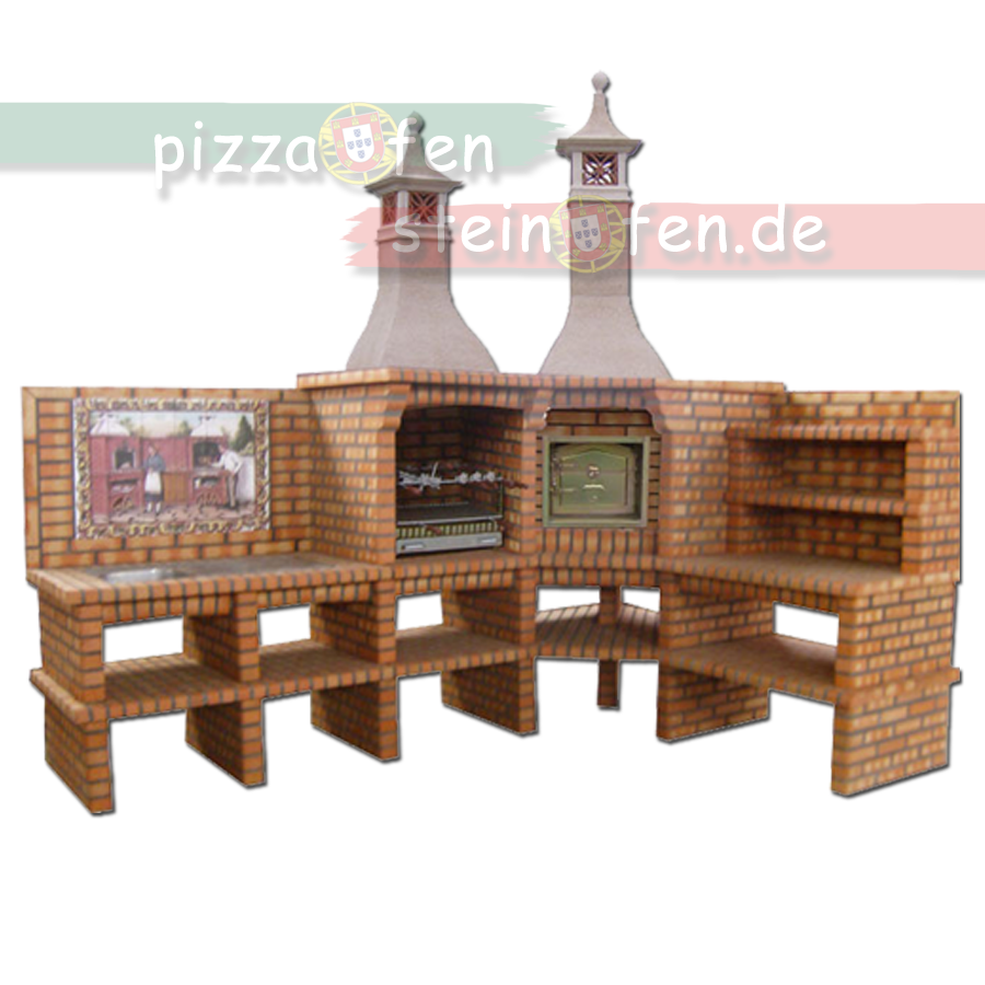 grillkamin mit pizzaofen. Black Bedroom Furniture Sets. Home Design Ideas